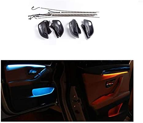 Car Interior Decor LED Door  Strip Atmosphere Lamp Black For BMW F10// F11