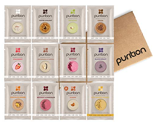 Purition Original Trial Box | Premium High Protein Powder for Keto Shakes and Smoothies with Only Natural Ingredients for Weight Loss | 12 x 40g sachets