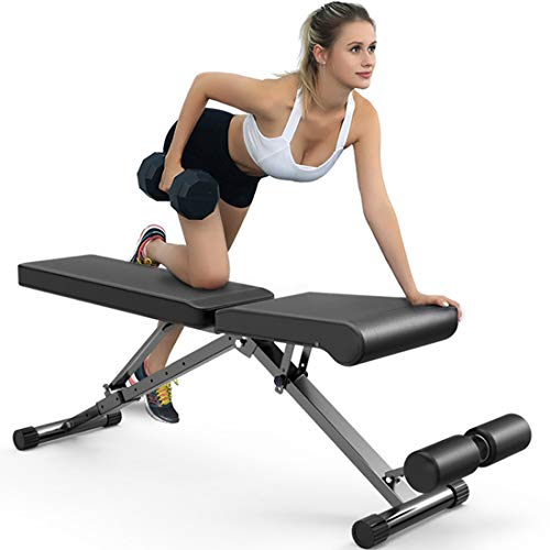 Dr.Life Adjustable Weight Bench for Full Body Workout Bench Multi-Purpose Utility Sit Up Weight Bench Strength Training Bench Press for Home Gym