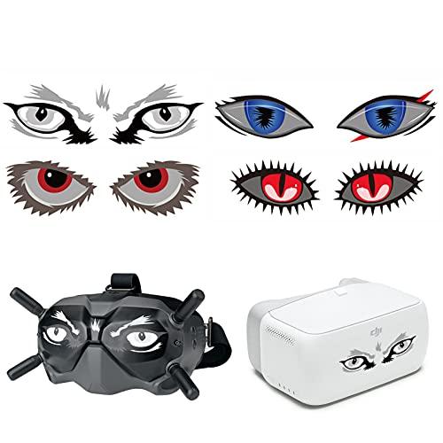 iEago RC 4 Sets Goggles Aufkleber Personalized Hautschutz DIY Pattern Sticker Anti-Scratch Decals wasserdichte Abnehmbare Cover für DJI FPV Goggles V2 / VR Brille