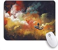 VAMIX マウスパッド 個性的 おしゃれ 柔軟 かわいい ゴム製裏面 ゲーミングマウスパッド PC ノートパソコン オフィス用 デスクマット 滑り止め 耐久性が良い おもしろいパターン (アート水彩ギャラクシー)