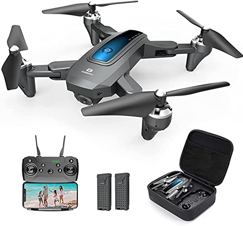 DEERC D10 Foldable Drone with Camera for Adults 1080P HD FPV Live Video,...