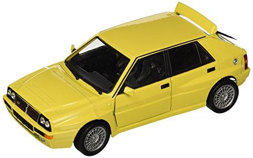 Bburago - 21072y - Véhicule Miniature - Modèle À L'échelle - Lancia Delta Hf Intégrale Evo 2 - Echelle 1/24- Couleur assortie, Jaune/Blanc.