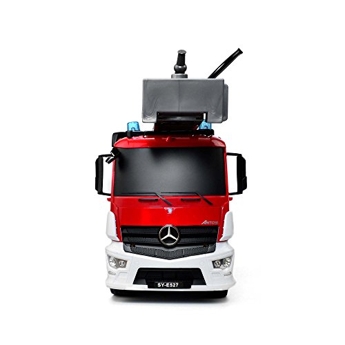 RC Auto kaufen LKW Bild 6: Mercedes-Benz Antos - original RC ferngesteuerter Feuerwehrwagen mit der neuesten 2.4GHz-Technik, wiederaufladbarer Akku, steuerbarer Rettungsleiter, Sound- und LED-Effekte, Komplett-Set inkl. Akku und Ladegerät*
