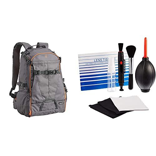 Cullmann 99441 Ultralight Rucksack sports DayPack 300, grau/orange & Amazon Basics - Reinigungsset für DSLR-Kameras und empfindliche elektronische Geräte