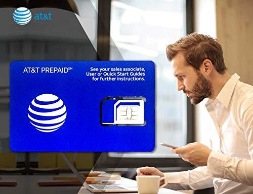 AT&T Prepaid USA SIM-Karte, vorinstalliert, unbegrenzte 4G-Datengespräche und Texte, 10 Tage
