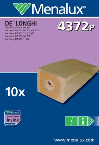 Menalux 900256144 4372P Sacchetti per Scope De Longhi Colombina-Xlf 1200