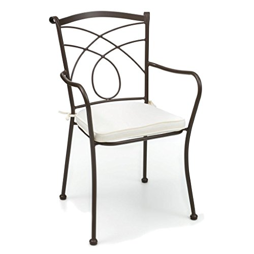 sedie da giardino zincate POLTRONA IN FERRO KINGSTON CON CUSCINO - SAL.MAR M0896
