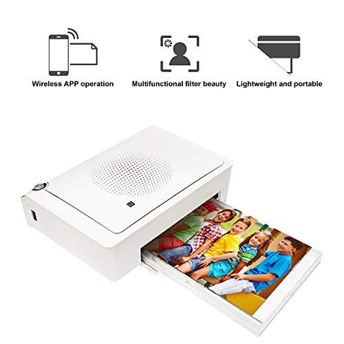 TANCEQI Mini Imprimante Photo Fonctionnement sans Fil APP Machine À Fabriquer Le Papier d'impression De Poche Imprimante Bluetooth Pratique pour iOS 6.0.0, 4.1.2 Et Au-Dessus Androed