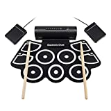 TUDOU Elektronisches Schlagzeug mit MIDI Drum Set mit Kopfhörer Drum Pedals und Sticks Drum Kit Kinder