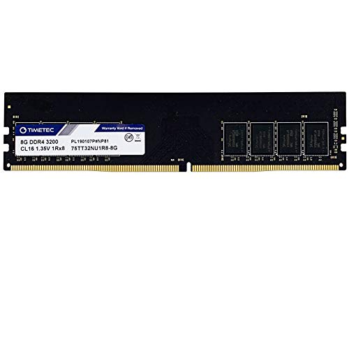 Timetec Extreme Performance Hynix IC 8GB DDR4 3200MHz PC4-25600 CL16 1.35V Unbuffered Non-ECC Single Rank Designed for Gaming and High-Performance Desktop Memory (8GB)