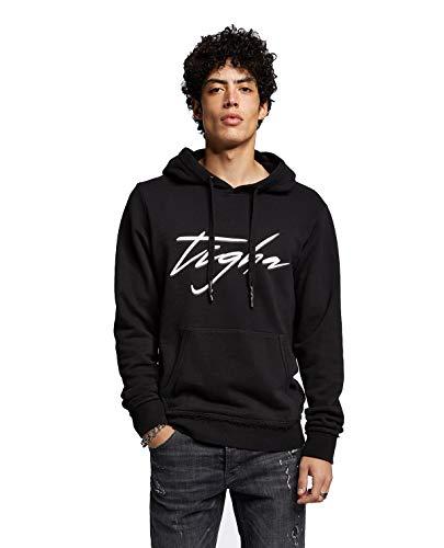 Tigha Ren Herren Hoodie mit Logo schwarz Gr.XXL