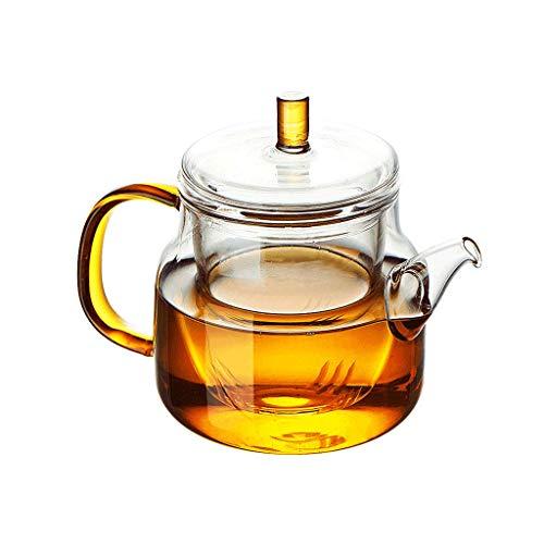theepot, hoge temperatuur bestendig, handgemaakt, gekleurd, glas, verdikt, glas liner, transparant, zichtbare gezondheid JXLBB 700ML