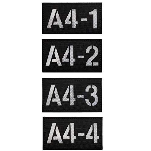 Rufzeichen Brief Infrarot Reflektierende IR Patches Emblem Militär Taktische Abzeichen Applikationen Klettverschluss Rückseite für Rucksack Weste Jacke Mantel Kleidung Zubehör