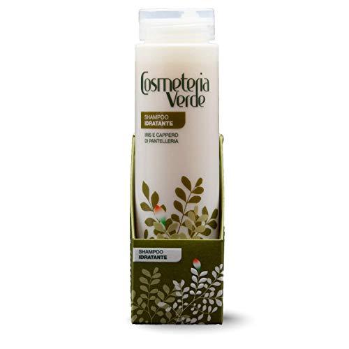 Shampoo Idratante Cosmeteria Verde - Nutre e Ristruttura completamente la superficie esterna del capello | Indicato per capelli Fragili, Opachi e Danneggiati | Testato per Uomo e Donna