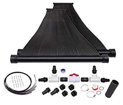 SunQuest 2-2'X12' Solar Swimming Pool Heater with Couplers-Max-Flow (2-2ft x 12ft with roof kit and Diverter)