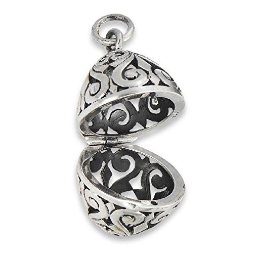.925 Sterling Silver Filigree Aromatherapy Essential Oil Diffuser Pendant