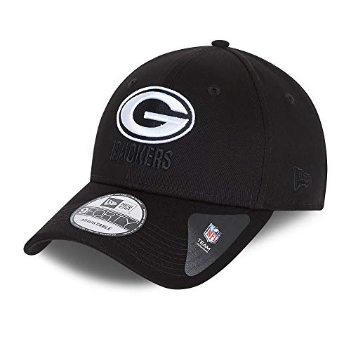 New Era Green Bay Packers 9forty Snapback Cap Verstellbar Kappe Black Base Schwarz - One-Size