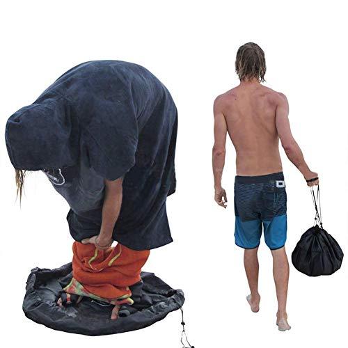 Traje de neopreno cambiador/bolsa, bolsa impermeable de nylon impermeable, bolsa de cambio de traje de buceo, ideal para surfistas, triatletas, nadadores y navegantes