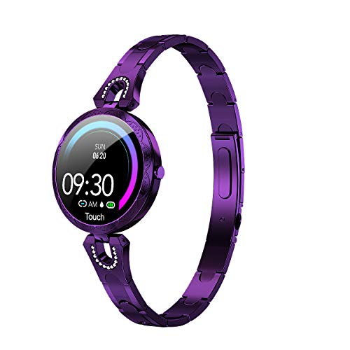 LONGLU Smart Watch Bracelet for Women, Smartwatch Gift For Ladies With Heart Rate Blood Pressure Waterproof Bluetooth Pedometer, Fitness Tracker Watch Compatible for IOS Android iPhone Samsung Phones.