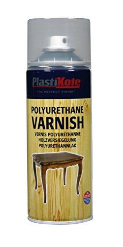 Plasti-Kote PKT591 Polyurethane Clear Gloss Varnish Spray, 400ml