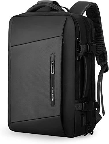 Muzee MARK RYDEN Zaino espandibile 25L-40L, zaino da lavoro da 17,3 pollici da uomo, borsa per laptop con porta di ricarica USB, zaino impermeabile antifurto, Zaino bagaglio a mano