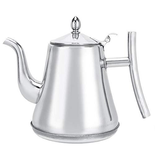 Tetera de acero inoxidable de alta calidad para el hogar, tetera gruesa, cafetera con infusor para el precio del restaurante del hotel(1.8L)
