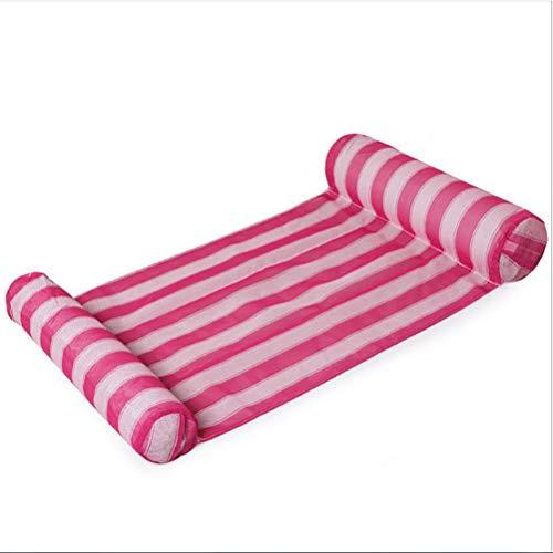 HUYA Juguete De Agua De PVC Fila Flotante Inflable Protección del Medio Ambiente Cama Flotante De Agua Sola Piscina Flotante Hamaca De Agua De Natación,Pink