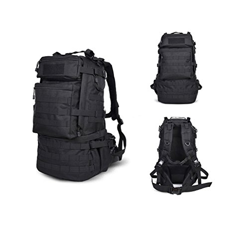 Greenpromise Outdoor Militär Armee 50L Taktischer Rucksack Camping Trekking Tasche Große Kapazität Wanderrucksack Reiserucksack Herren Tasche (schwarz)