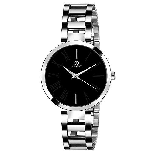 ADAMO Enchant Analog Black Dial Women's Watch - 2480SM02