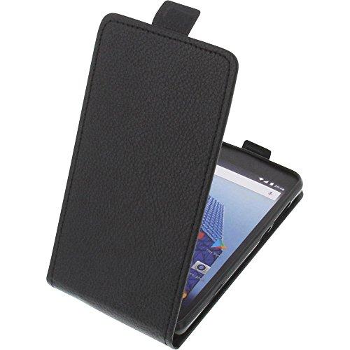 foto-kontor Tasche für Archos Access 50 Color 3G Smartphone Flipstyle Schutz Hülle schwarz