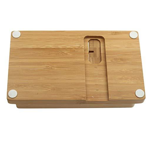 USNASLM Soporte de escritorio para teléfono móvil, para iPad Tablet Soporte de carga de madera real, para Apple Watch Pad Phone Tablet