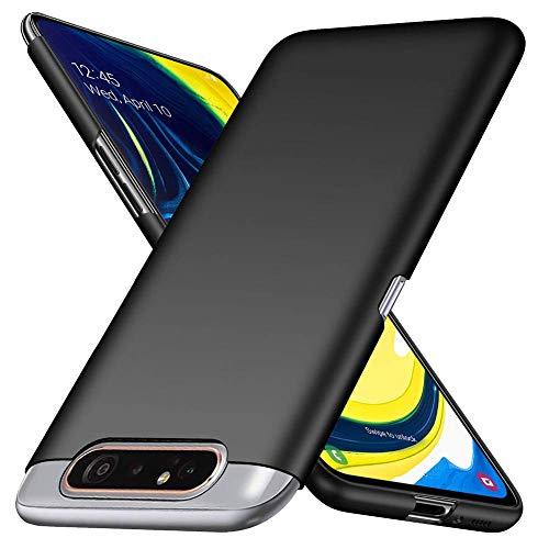 Toppix Cover per Samsung Galaxy A80, Custodia Rigida Ultra Sottile [Anti-Graffio] Superficie Opaca Case per Samsung Galaxy A80 (Negro)
