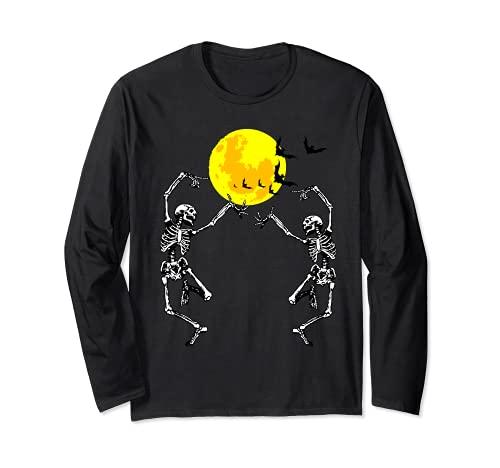 Esqueleto Bailarn Luna llena Disfraz de Halloween Horror Manga Larga