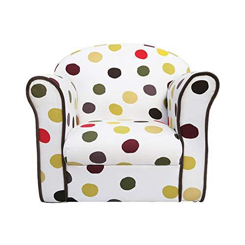 DW&HX Silla tapizada niños, Linda de la Historieta Suave Mini sillón Sencillo y Moderno Marco