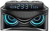 J & J Sveglia Digitale con dimmerabile, Radio a LED Orologio con Altoparlante Bluetooth 19W, impostazione Doppia Allarme - Slot TF/AUX/USB