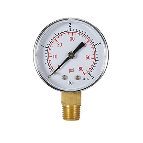 Wasser-Manometer Pool-Manometer 60PSI 1/4