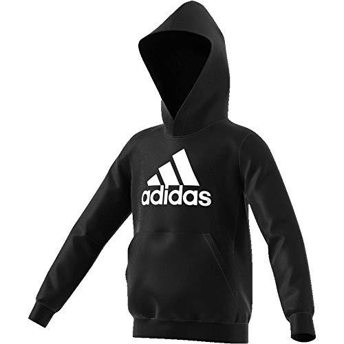 adidas Jungen Must Haves Badge of Sport Sweatshirt, Black/White, 164 (2XL)