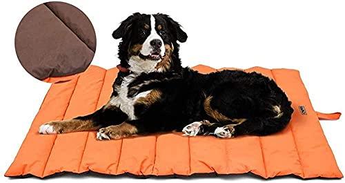 Cama Impermeable Perro matample Almohada Relajante Perro 110x66cm Camas de Perro colchón Perros visdeelasica Lavable Cojines Impermeables-Naranja