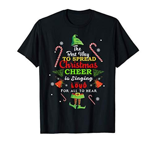 Spread christmas cheer is singing loud shirt xmas Elf pajama T-Shirt