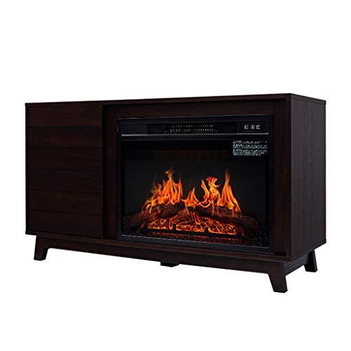 Shuai- Elektro-Kamin Heizung 3D Dynamische Flammeneffekt Fernbedienung Panorama Design Amerikanische Log Kamin Dekorative Kabinett 1400W
