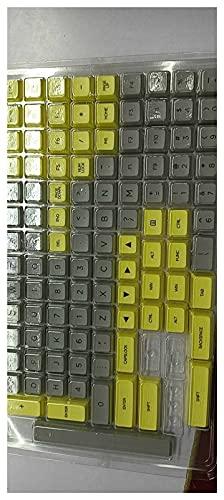 Wuyuana KeyCaps Profilo PBT KeyCaps 108 Tasti KeyCap Set Gaming Keyboard Keyboard Cappellino per Tastiera per 61/87/104/108 Tastiere Tastiere Gamers Tastiera keycaps (Color : Gray)