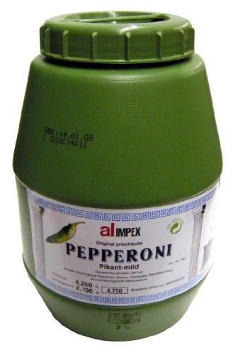 Alimpex Alimpex Original griechische Pepperoni pikant - mild - Füllmenge 4500 g (Abtropfgewicht 2100 g)