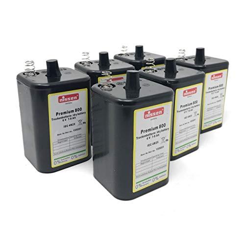 Nissen 4R25 6V Batteria a Blocco per lampade da Cantiere,Illuminazione, Lampeggianti Set da 6