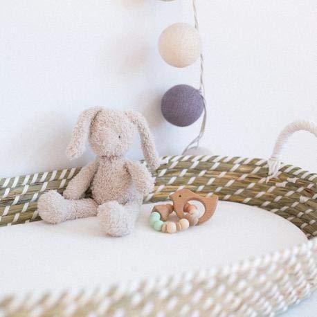 Cambiador de fibra natural para bebés con colchón