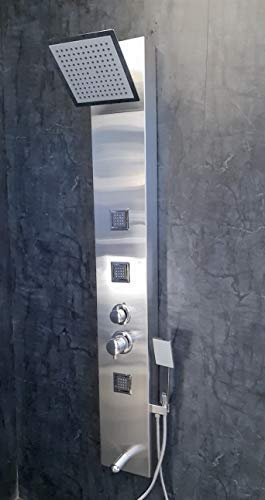 Jaaz Willet Stainless Steel Matte Finish Shower Panel 5 ft Big Jets, Silver