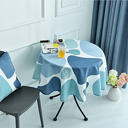 sans_marque Mantel de mesa, cubierta de mesa, cubierta de mesa lavable que se puede utilizar para decoración de mesa de cocina, mantel lavable de 180 cm