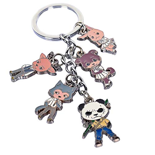 Beastars Keychains Legoshi Haru Cosplay Cute Car Keychains Zinc Alloy Keychain
