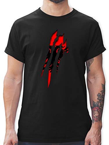 Länder - Albanien Krallenspuren - L - Schwarz - albanien Army - L190 - Tshirt Herren und Männer T-Shirts