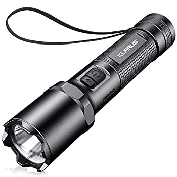 Klarus A1 Rechargeable Tactical Flashlight 1100 Lumens LED Handheld Pocket-Sized Torch Flash Light 4 Modes Plus Strobe IPX6 Waterproof 18650 Battery Included
